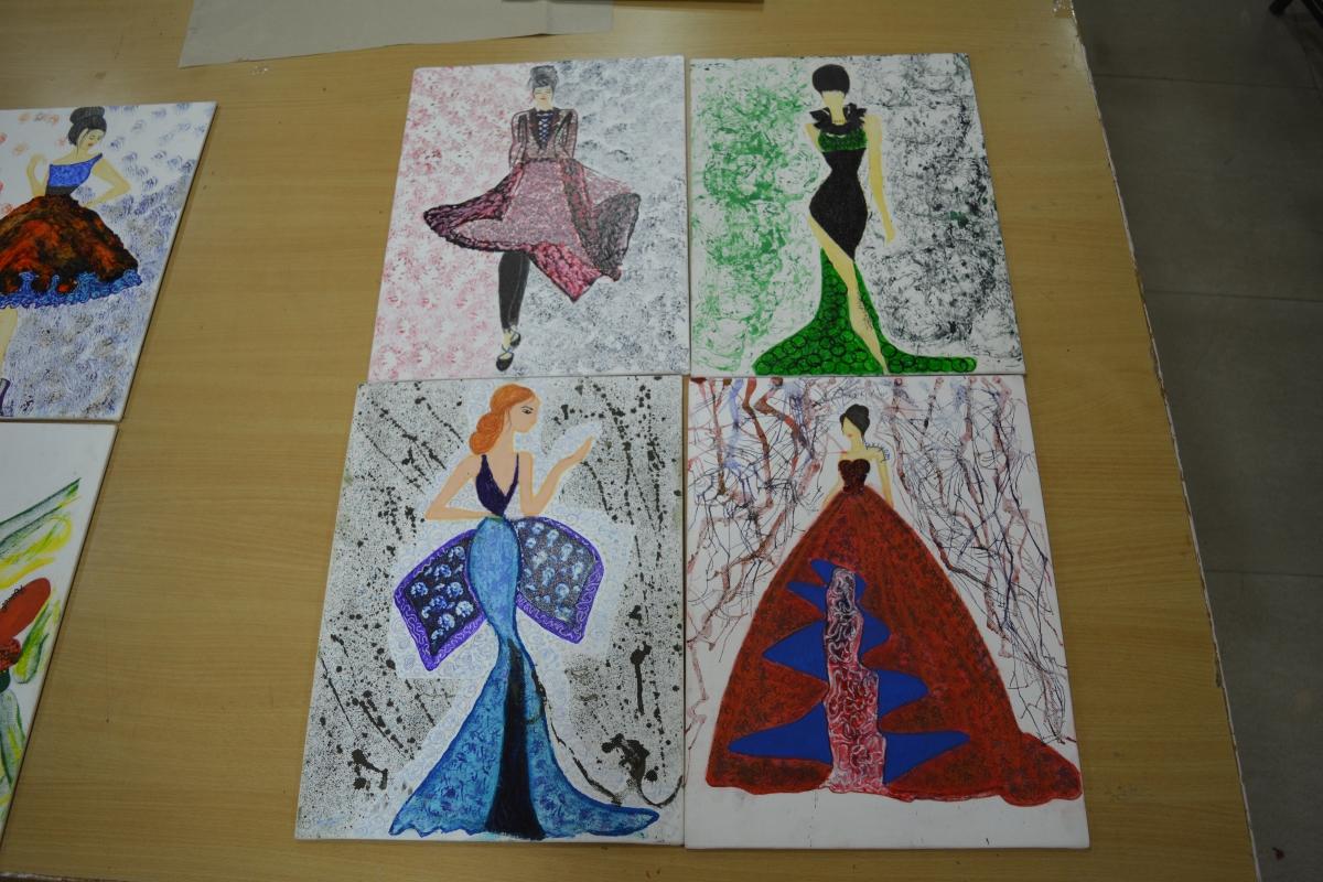 Fashion Croquis Dresses Work