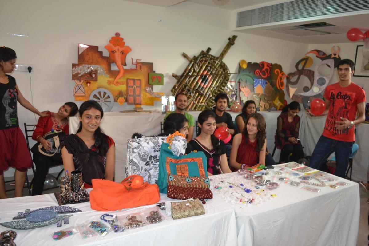 Students Managing Groovyrage Exhibition